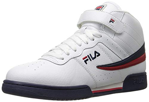 Fila Men's f-13v lea/syn Fashion Sneaker, White Navy Red, 8.5 M US