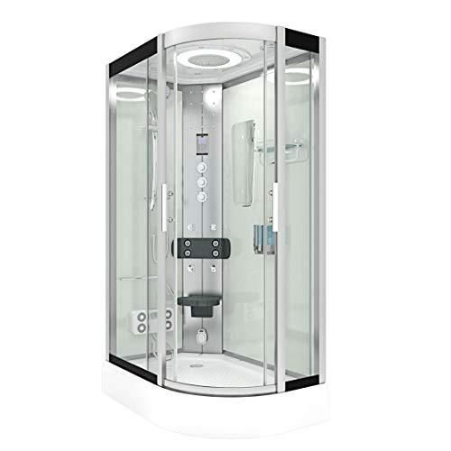 AcquaVapore DTP8060-7003R Dusche Dampfdusche Duschtempel Duschkabine -Th. 80x120 JA mit 2K Scheiben Versiegelung