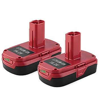 Energup Replacement 2.5Ah Craftsman 19.2Volt Lithium Battery for Craftsman C3 XCP Craftsman 19.2V Battery 130279005 1323903 130211004 11045 315.115410 315.11485 for Craftsman Battery  2Pack