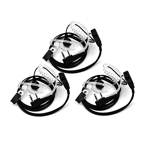 HUAHUA JUSU Store Auriculares de Tubo acústico de Aire Compatible con Walkie Talkie Baofeng Radio K Port Auricular Ptt con micrófono Compatible con UV- 5R 88 Auriculares de vigilancia de 8s
