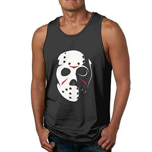 Friday The 13th Camisa sin Mangas de algodón para Hombre, usada por Fuera o por Dentro