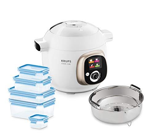 Krups CZ7001.GO Cook4Me - Robot de cocina (incluye 5 recipientes Emsa Clip&Close...