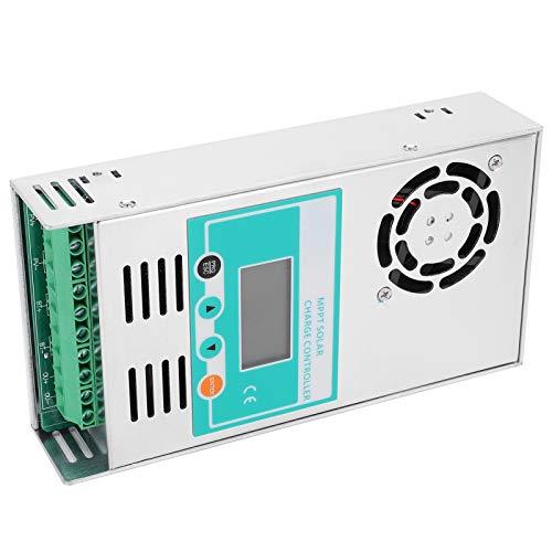 Controlador de carga solar, 12V 24V 36V 48V Controlador de panel solar Regulador inteligente de batería, Controlador de carga solar MPPT con ventilador eléctrico inteligente(MPPT-50A)