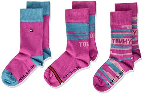 Tommy Hilfiger Kids' Socks Gift Box Calcetín clásico, Pink, 27 Regular Unisex Niños