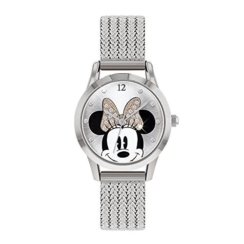 Disney Reloj Análogo clásico para Mujer de Cuarzo con Correa en Acero Inoxidable MN8008