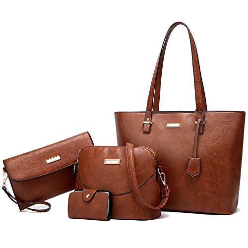 YNIQUE Satchel Purses and Handbags for Women Shoulder Tote Bags Wallets Size: Medium