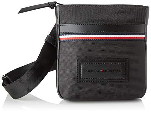 Tommy Hilfiger heren modern nylon Mini Crossover schoudertas, zwart (black), 3x20x18,5 centimeter
