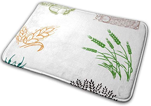 Keyboard cover Alfombrilla de baño de harina de trigo con memoria de espuma, antideslizante, suave, absorbente, para suelos de cocina, 40 x 60 cm