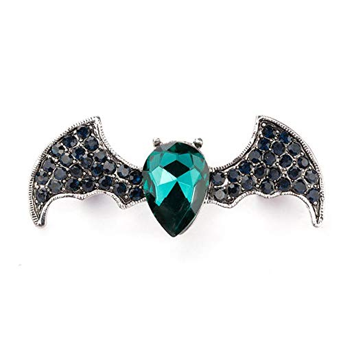 HUNANANA Rhinestone Bat Brooches For Women Fashion Vintage Animal Pins Brooch Neckline Party Accessories Brooch Gift Jewelry
