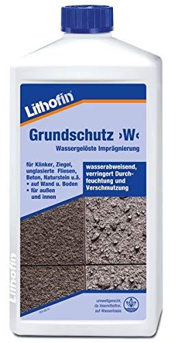 Lithofin Grundschutz >W< 1 l - Wassergelöste Imprägnierung - SCHUTZ vor Öl, Fett und Wasser - UMWELTFREUNDLICH