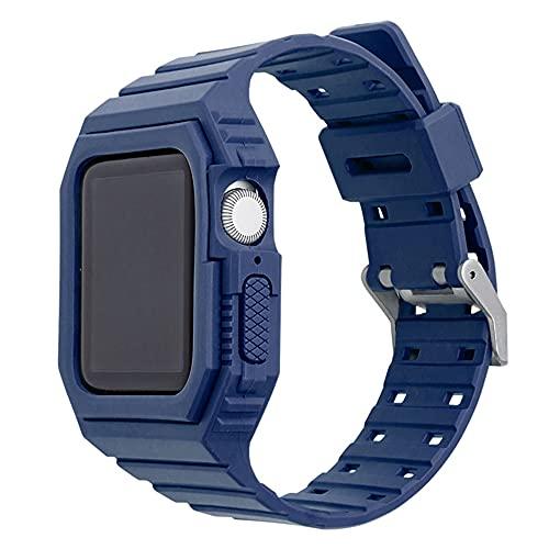 CHENPENG Correa Compatible con Apple Watch Series 1/2/3/4/5/6 / se, Correa de Silicona Suave cómoda a Prueba de Golpes de una Pieza con Estuche Protector Resistente,6,42mm