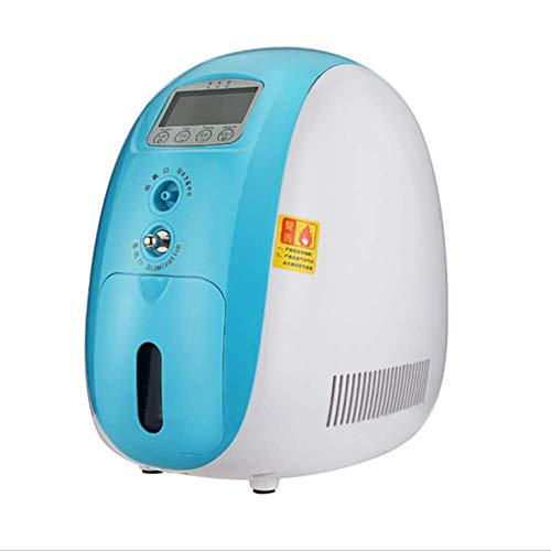 BBYT Tragbare Sauerstoffgenerator, 93{0b100a100820579d427e9c94b497e8a996bb36ce2c01907176fdc7bad21c3e6d} 1-5L/Min Luftreinigungsmaschine Mit Zerstäubung + Negative Ionenfunktion Für Den Heimgebrauch, Leiser Betrieb, Luftbefeuchter(220V)