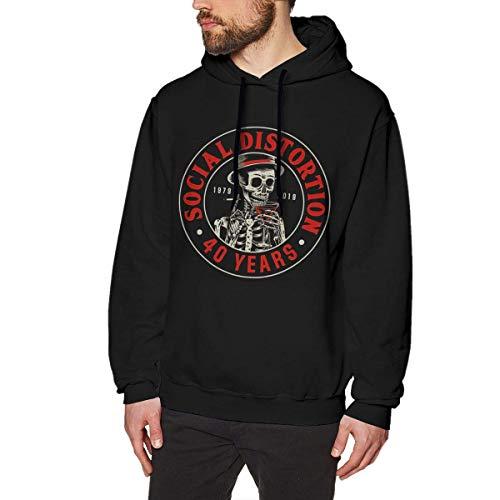 AKKUI Hooded Sweat Herren Kapuzenpullover LanceCHerbert Social Distortion Hoodie Men's Casual Sweatshirt Fashion Hooded Pullover