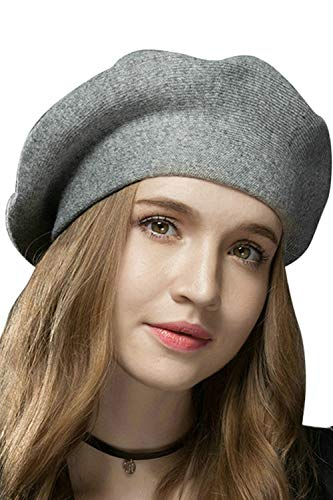 Suvimuga Boina Sombrero De Lana Slouchy Boinas Francesas para Mujeres Señoras Chicas