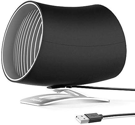EasyAcc Mini USB Ventilatore a Doppia Lama Portable Personale Ventilatore da Tavola Ventilatore silenzioso con interruttore tattile Ventilatore regolabile portatile - Nero