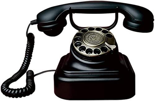 CJDM Teléfono con Cable Teléfono Retro Dormitorio de Metal Oficina Teléfono Fijo Estilo Europeo Teléfono Fijo 24,5 * 16,5 cm Teléfono inalámbrico