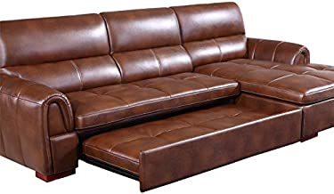 Sofa headboard Leather Bed Dual Purpose Living Room Small Family Multifunctional Folding Storage Leather Sofa