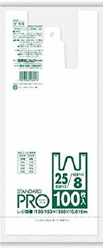 日本サニパック Y1H レジ袋 8/25号 白 100枚