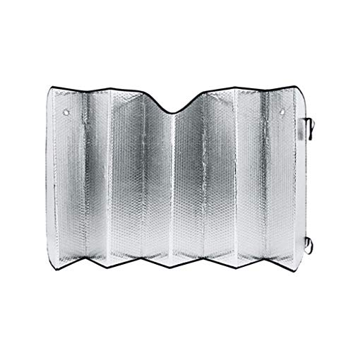 CSQ-Auto koeling Shading Mat, 130-220CM Auto Raam Voorste Blok Aluminium Folie Zilver Zonnebrandcrème Auto Truck Beschermd tegen Licht Zonnescherm Isolatie van ultraviolette stralen 220 * 80CM