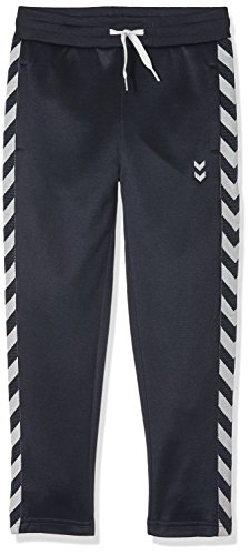 Hummel joggingbroek jongens lang - JUNIOR V GRAND PANTS - fitnessbroek in blauw - sportbroek sweat - loopbroek normale pasvorm - voetbalbroek elastische band