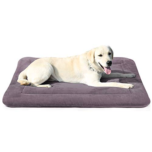 """JoicyCo Dog Bed Crate Pad Mat 35""""/42""""/47"""" Washable Pet Bed Cat Beds Soft Dog Mattress"""