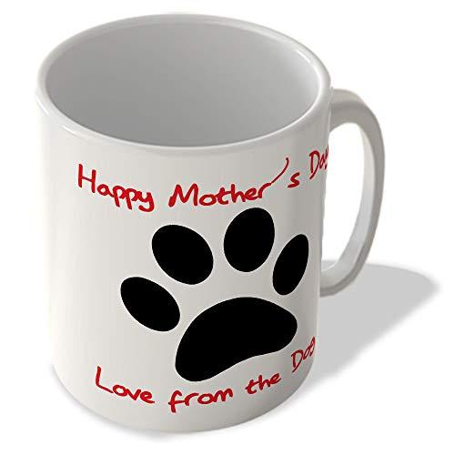 Mum _ 030feliz día de la madre, el amor del perro personalizado impreso tazas de regalo día de la madre