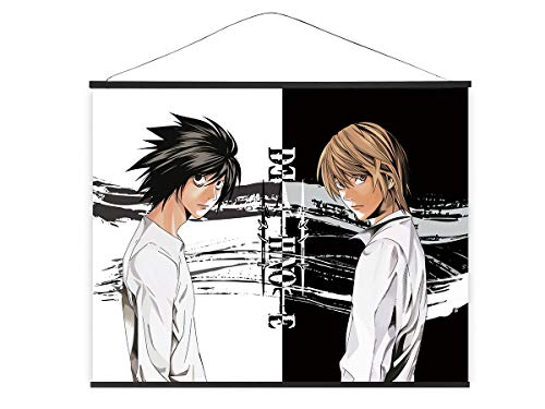 CoolChange XXL Poster para enrollar de Tejido de Death Note   Kakemono 100x81   Grande Poster Anime   Tema: Light Yagami & L Lawliet