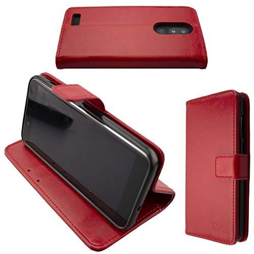 caseroxx Tasche für Emporia Smart 3 Mini Bookstyle-Hülle in rot Cover Buch