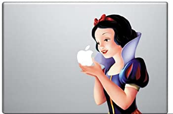 Snow White Holding Apple MacBook Pro Vinyl Decal Sticker  Available for 11 13 15 17 inch and Air