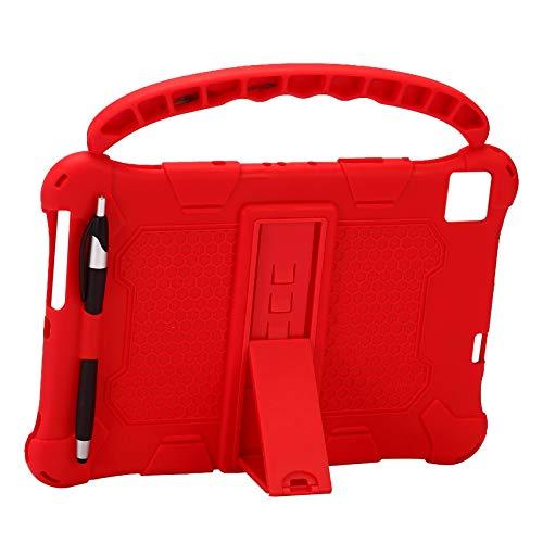 ZBSM Funda de Tableta para M40 P20HD P20 10.1 Pulgadas Funda de Silicona de Tableta Soporte de Tableta con Asa para P20HD (Rojo)