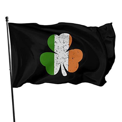 NotApplicable Fahne Irland Kleeblatt Irische Flagge 150X90Cm Polyester Bunte Garten Dekorative Haus Flagge Gartenflagge Yard Banner Fly Bleeze Druck Im Freien Urlaub Die Ganze Saison