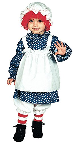Morris Costumes Raggedy Ann Costume: Girls Toddler Size (2T-4T)