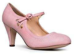 MARY JANE PUMPS- A MUST HAVE FOR EVERY WOMAN: J. Adams elevates the adorable Mary Jane Pump with signature scallop detailing. A must have for every woman's wardrobe, as they never fade in elegance and fashion. The classy yet unique style of these hee...