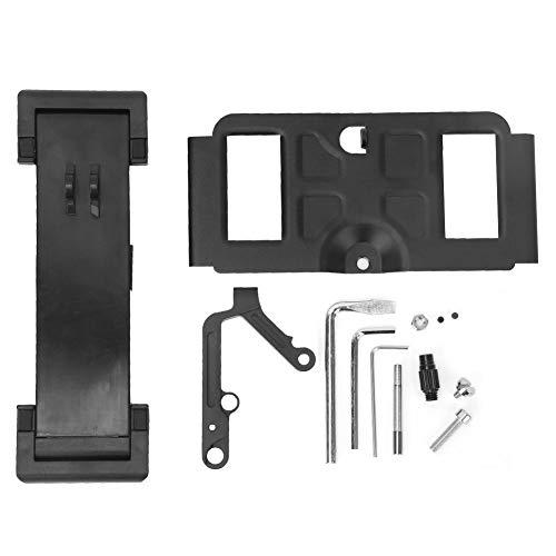 Soporte para Tableta para Drones, Soporte para teléfono Plegable para Drones, Soporte Estable de Metal Negro, Soporte retráctil de Metal/plástico para Drones al Aire Libre para(Black)