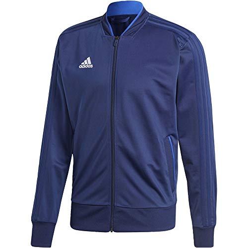 adidas Condivo 18 Polyester Jacket, Maglia A Zip Uomo, Blu Scuro/Bianco, M