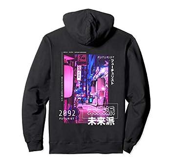 Japanese Street Cyberpunk Tokyo Streetwear Aesthetic Graphic Pullover Hoodie