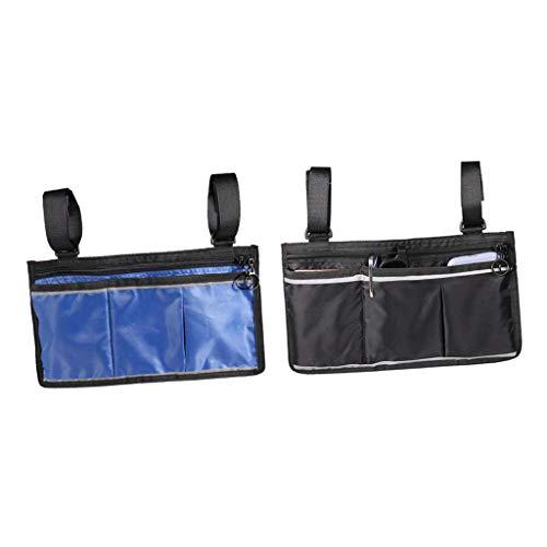 Bonarty 2 Stück Rollstuhl Elektroroller Tasche Reisetasche Armlehnentasche Organizer, Campingstuhl Seitentasche