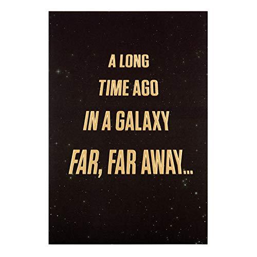 Tarjeta de cumpleaños general de Hallmark con diseño de texto de Star Wars