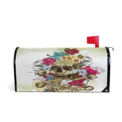 iRoad Aquarell Tag der Toten, magnetische Briefkastenabdeckung, dekorativer Briefkasten, Standardgröße für den Außenbereich und Garten, mehrfarbig