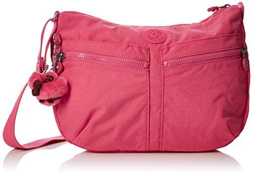Kipling Damen IZELLAH Umhängetasche, Pink (City Pink), 33 x 23 x 12 cm