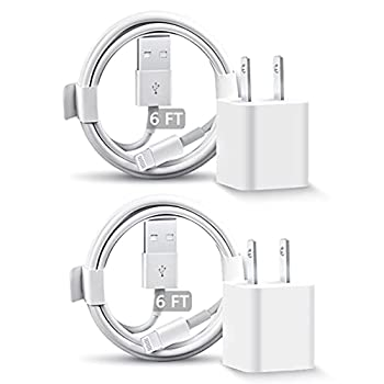 iPhone Charger 2 Pack iPhone Fast Charger Travel Plug with 6FT USB to Lightning Cable Fast Charging Data Sync Transfer Cable Compatible with iPhone 12/11/11 Pro/Xs/XR/X/8/8Plus and More