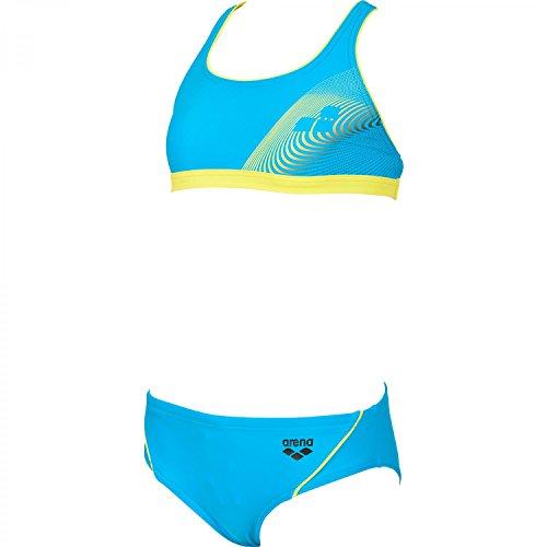 arena Mädchen Trainingsbikini Espy, Turquoise/Soft Green/Black, 116, 2A133