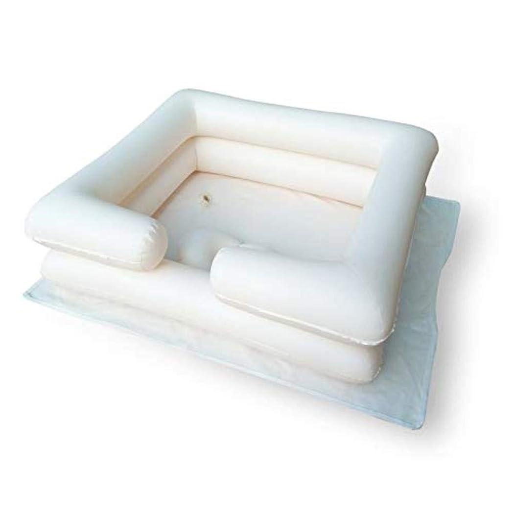 電卓領事館ピンポイント膨脹可能なシャンプーの洗面器の入浴用具-ベッドの毛を洗いなさい