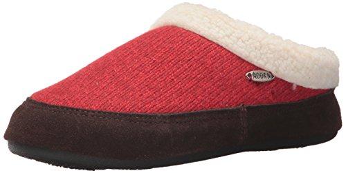 Acorn Women's Mule Ragg Slipper, Red, Large Standard US Width US
