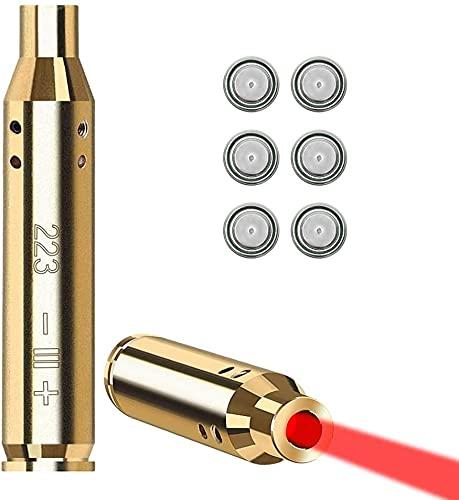 ecoeco 223 5.56mm Laser Bore Sight, AR-15 Pistol Rifle Laser Sight Red...