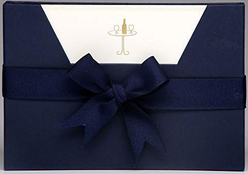 Julie Bell - Luxe gestempeld briefpapier - Wijntafel - 10 Notitiekaarten & Enveloppen