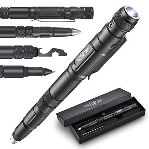 BIIB Geschenke für Männer, Taktischer Stift mit Taschenlampe Gadgets für Männer, adventskalender männer 2020, Coole Werkzeug Kleine Geschenke für Papa Opa, Vatertagsgeschenk, Frauen Männer Geschenke