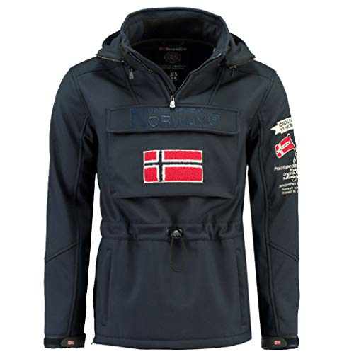 Geographical Norway Chaqueta Softshell Hombre TERREAUX Azul Marino M