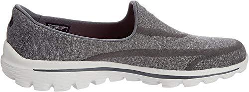 Skechers Performance Women's Go Walk 2 Super Sock Slip-On Walking Shoe,Old Charcoal,8 M US