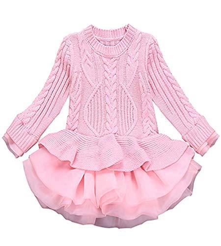 Girls Christmas Crochet Dress